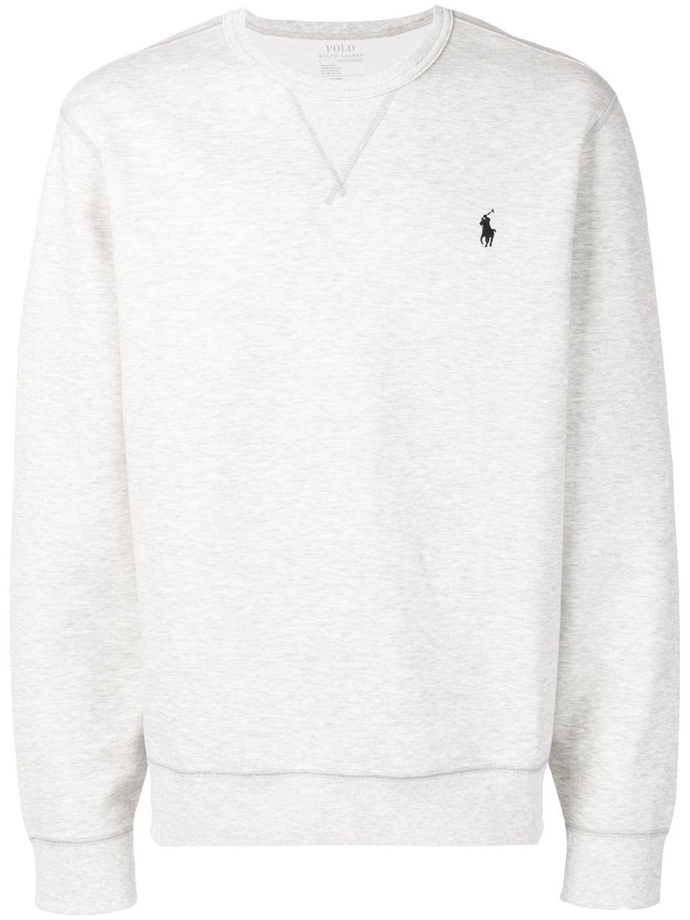 1b4c49fc Polo Ralph Lauren Embroidered Logo Sweatshirt - Grey | ModeSens