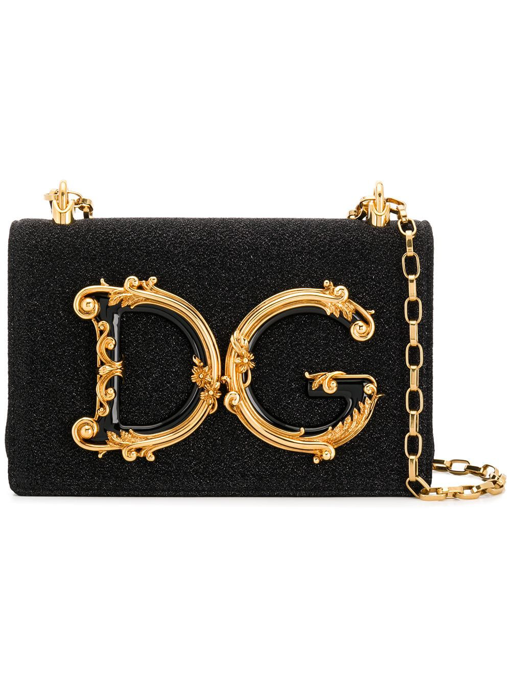 c96bca8b22c8 Dolce & Gabbana Dg Girls Coss-Body Bag In Soft Lurex In 8H965 Lure Nero