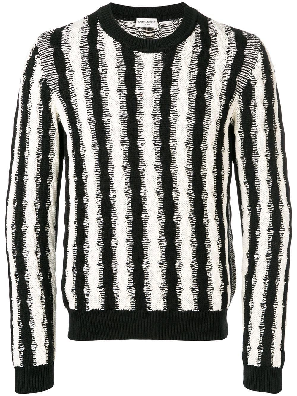 21f587320a64 Saint Laurent Striped Sweater - Black