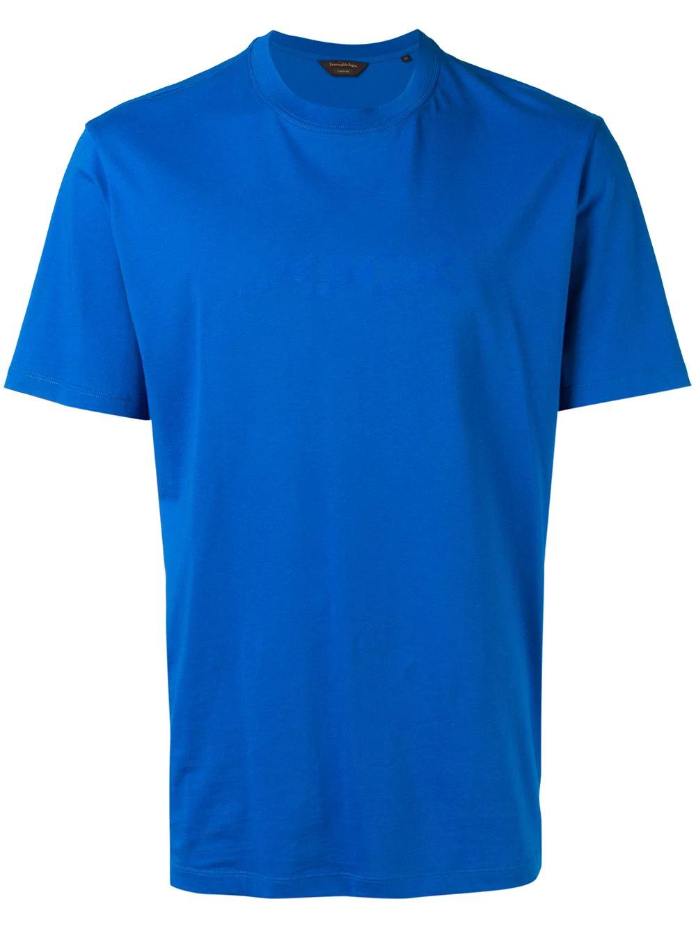 27d400956 Ermenegildo Zegna Xxx Print Logo T-Shirt - Blue | ModeSens