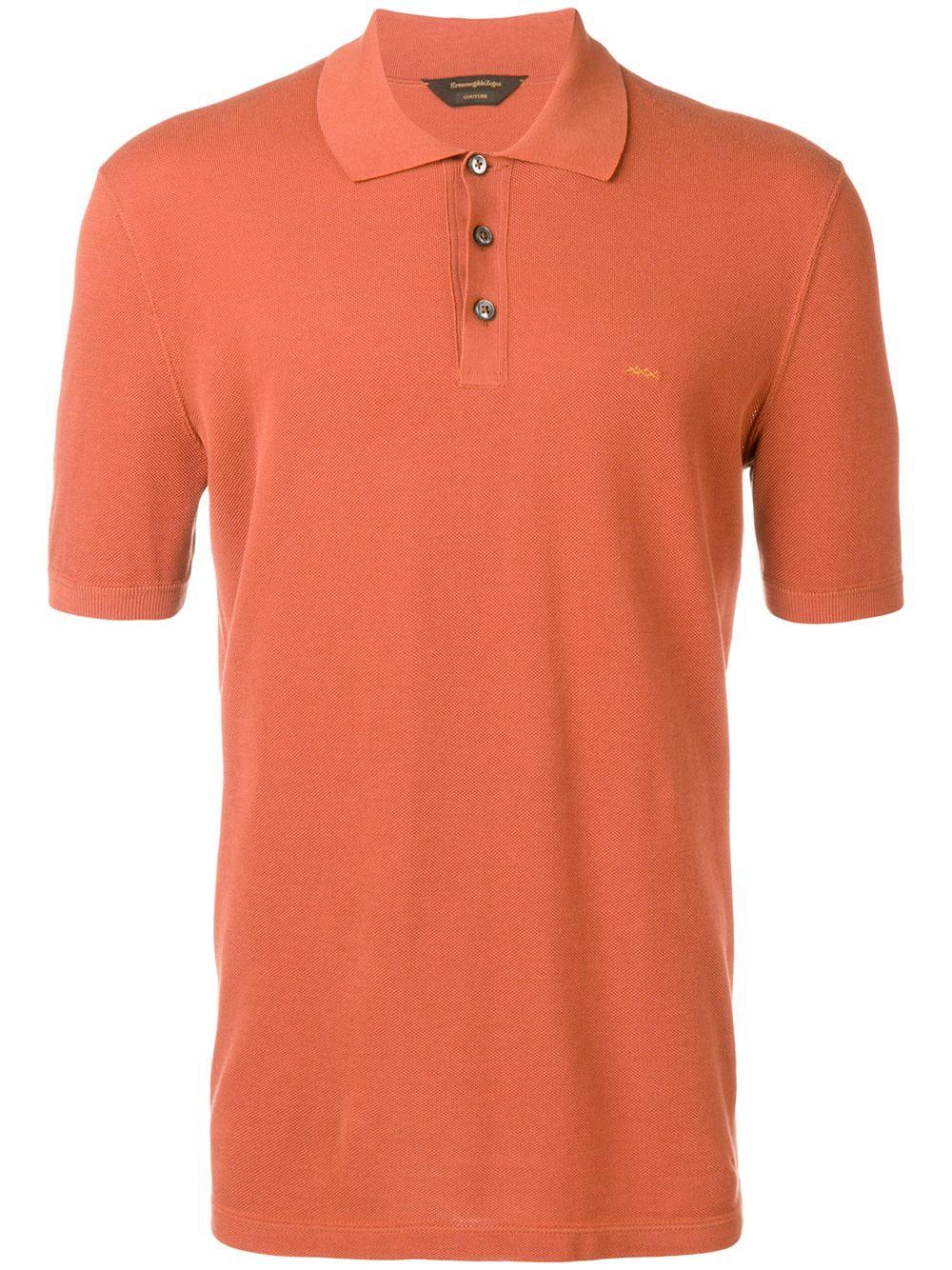9f7b9e880 Ermenegildo Zegna Xxx Short-Sleeve Polo Top - Orange | ModeSens
