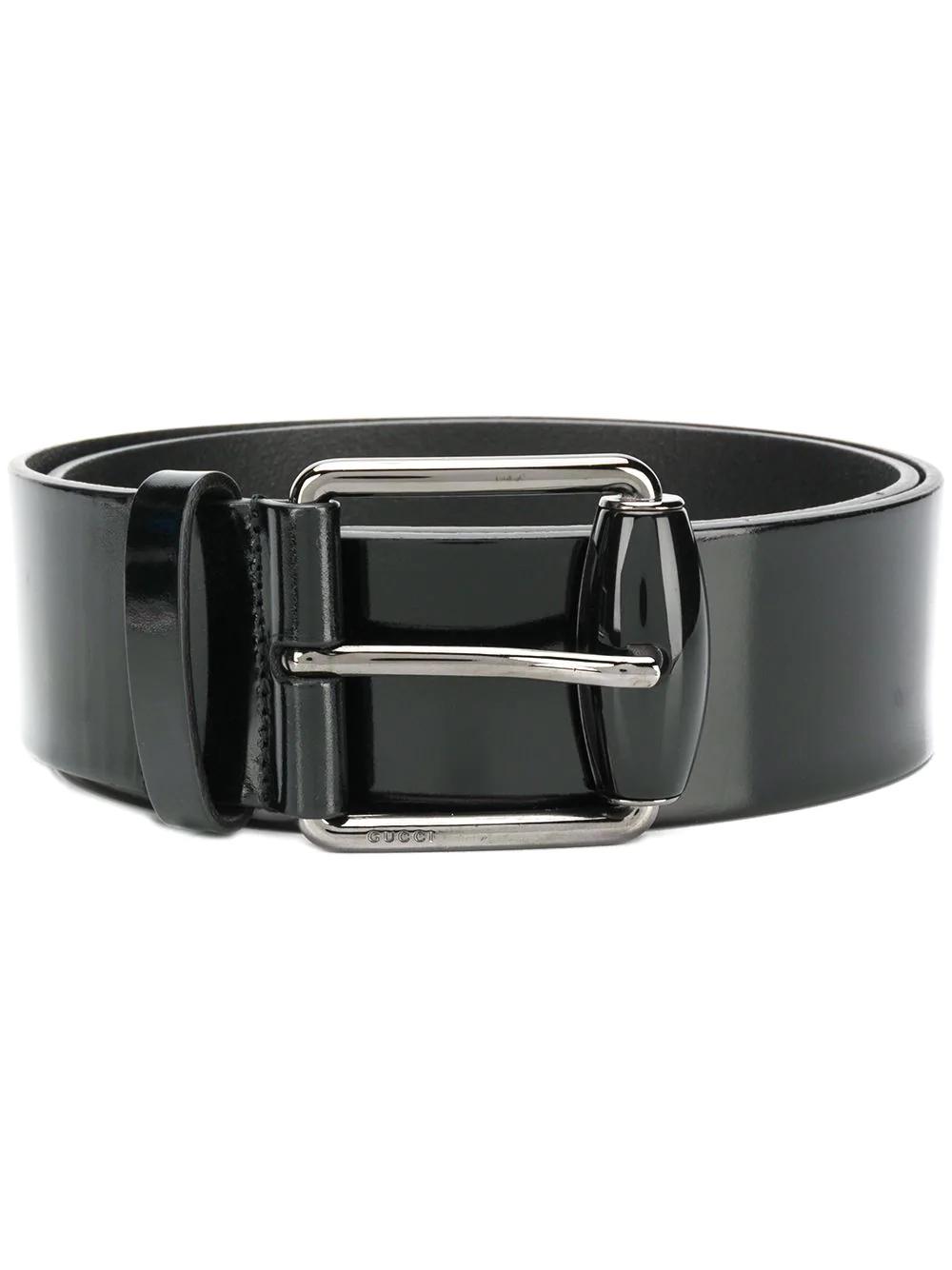 7ca0cd921fc412 Gucci Varnished Belt - Black | ModeSens