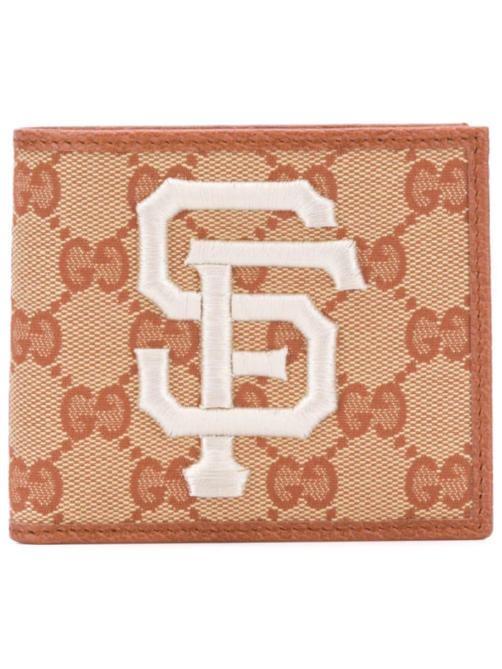9242fd4ff2ce5 Gucci Wallet With Sf Giants™ Patch - Brown. Farfetch