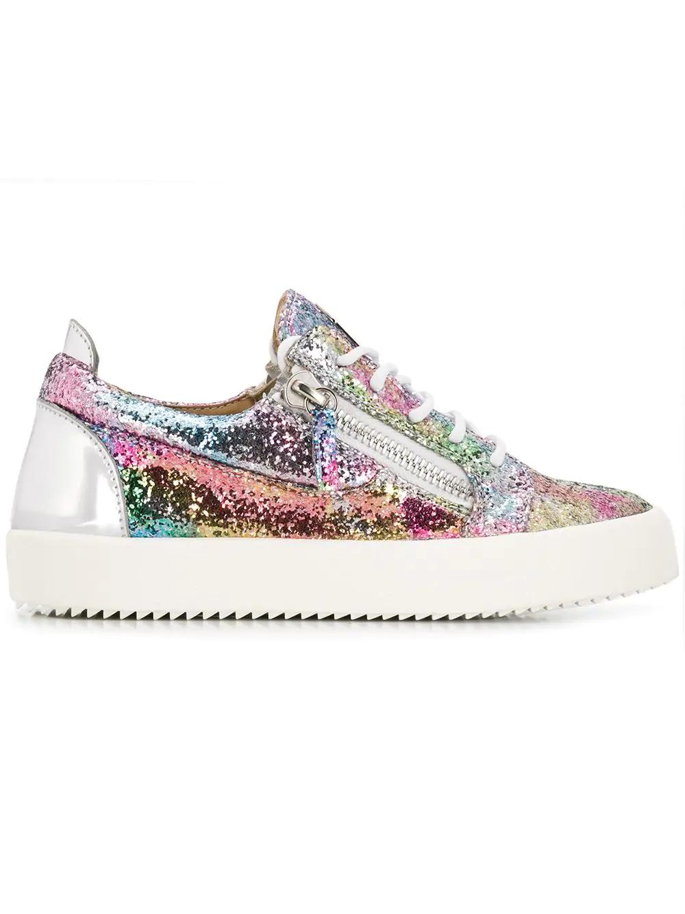 828de83428a Giuseppe Zanotti Women s Glitter Low-Top Platform Sneakers In Pink ...