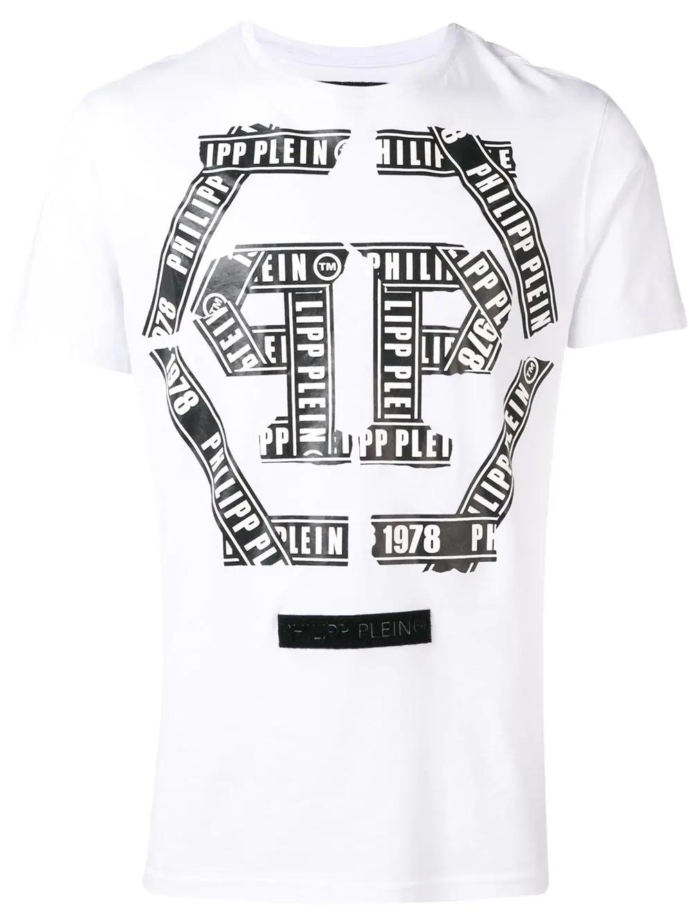4b0f9940d8395 Philipp Plein T-Shirt Mit Logo-Patch - Weiß In White