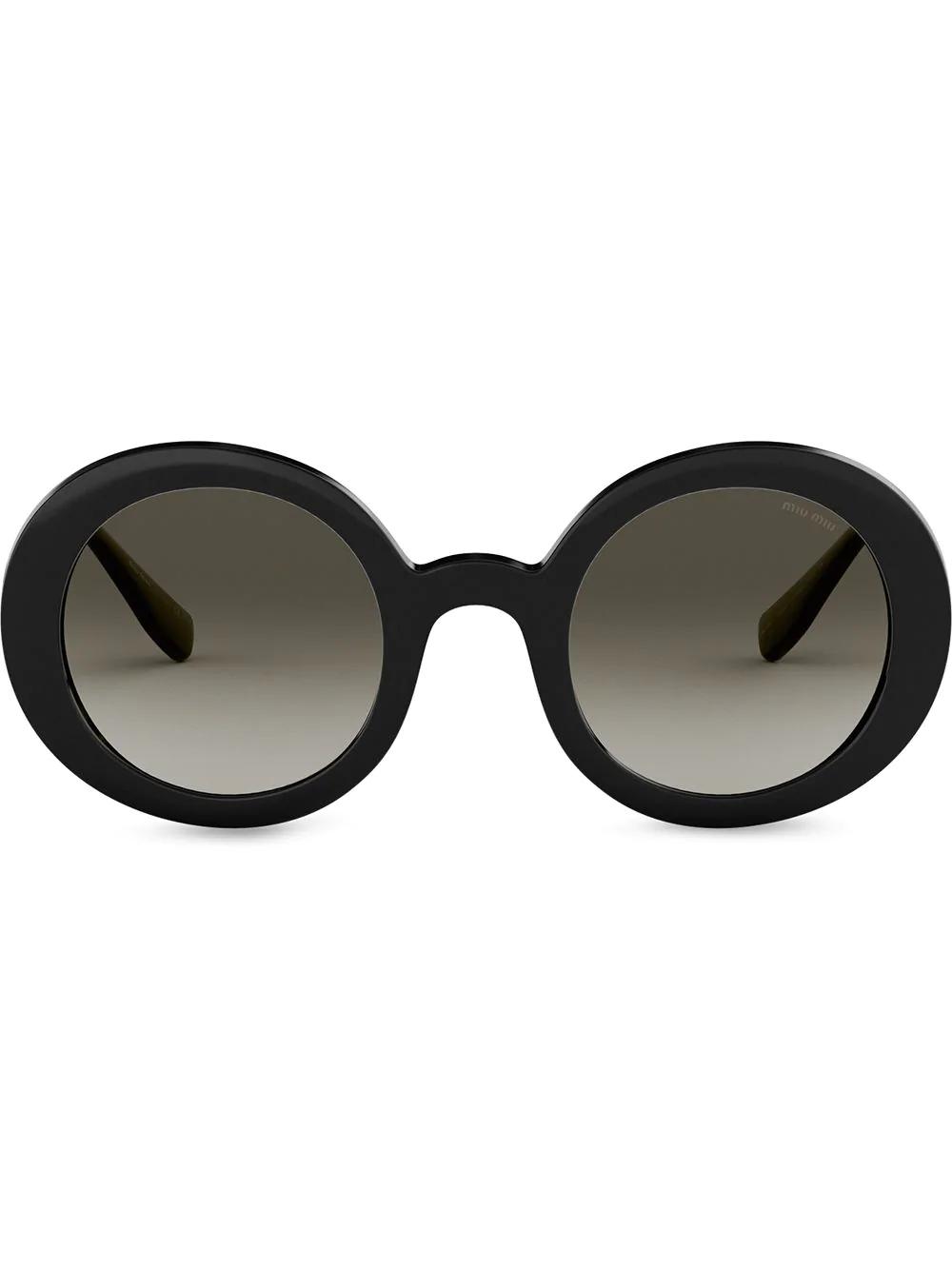 8ccca4486407b Miu Miu Eyewear Logo Eyewear Alternative Fit - Black. Farfetch