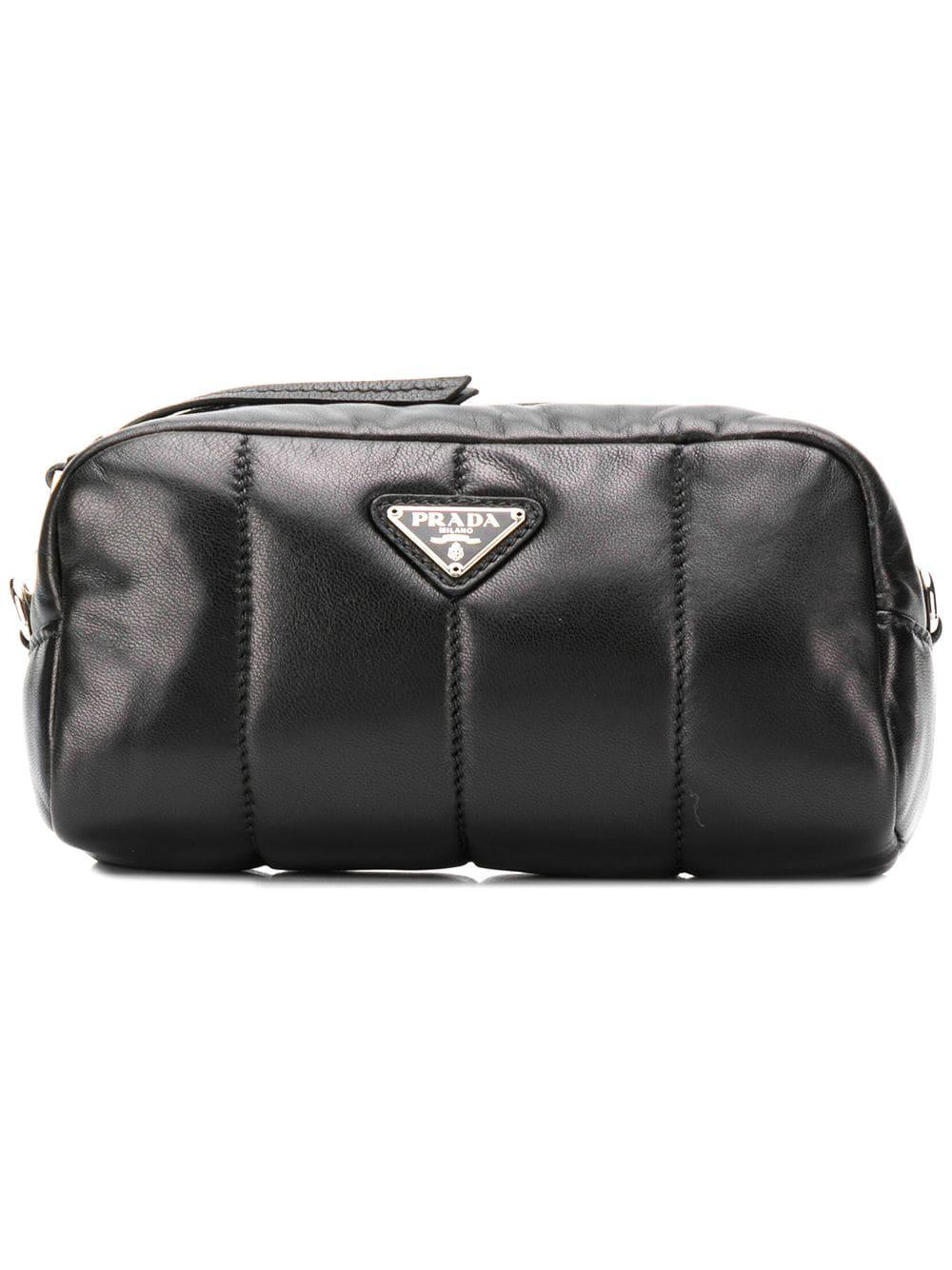 eb85dc8a41d9 Prada Logo Plaque Makeup Bag - Black   ModeSens