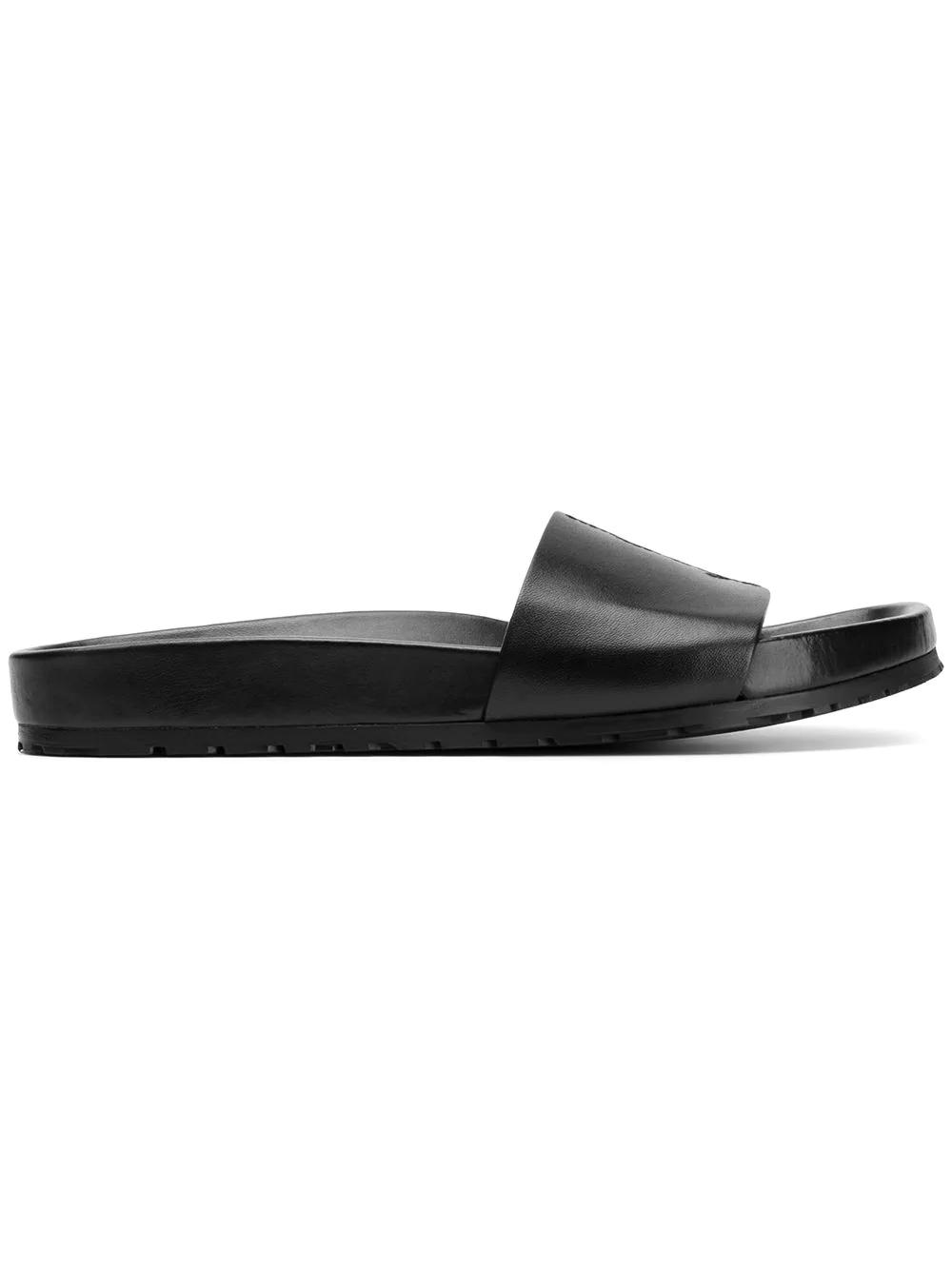 37e5f548e Saint Laurent Jimmy Logo Slide Sandal In Black