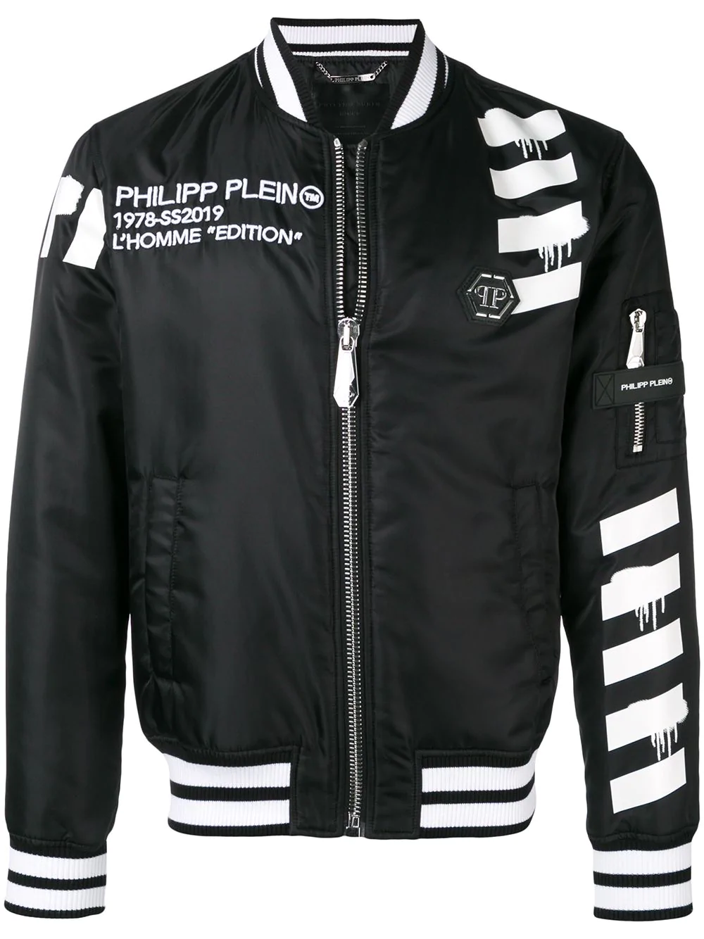 93a18c36ea Philipp Plein Skull Print Bomber Jacket - Black | ModeSens