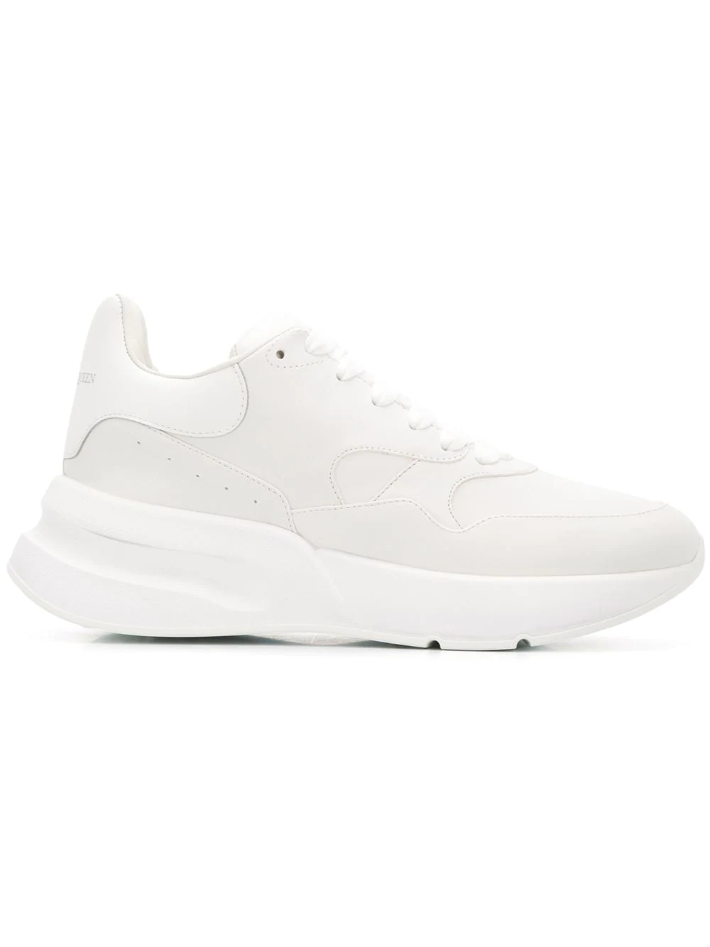 aa08b1fa5823 Alexander Mcqueen Runner Raised-Sole Low-Top Leather Trainers In White