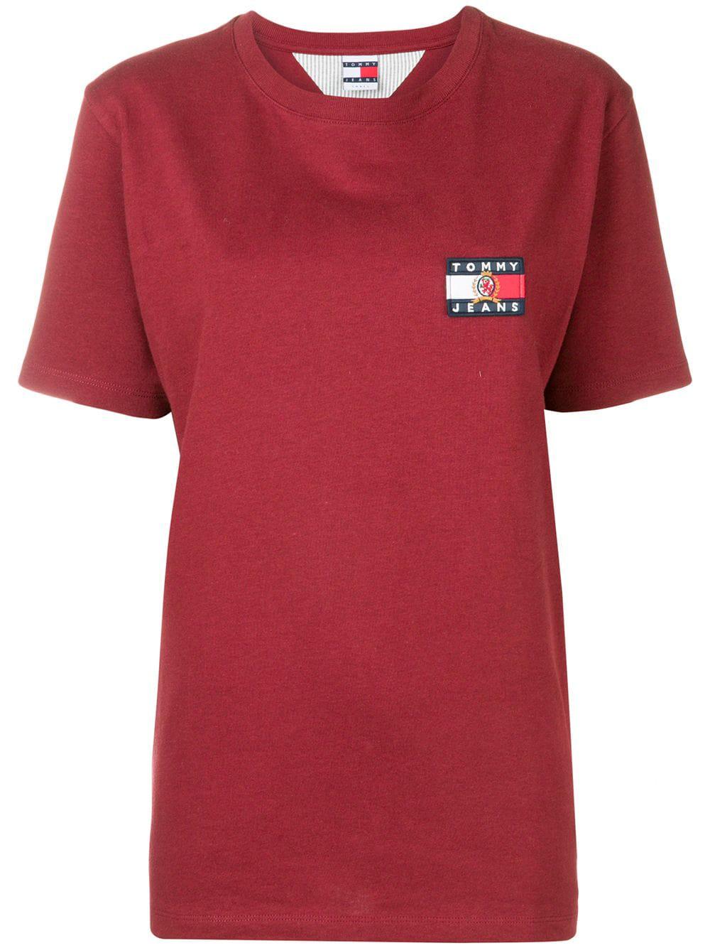 d81a42d4 Tommy Jeans Logo T-Shirt - Red | ModeSens