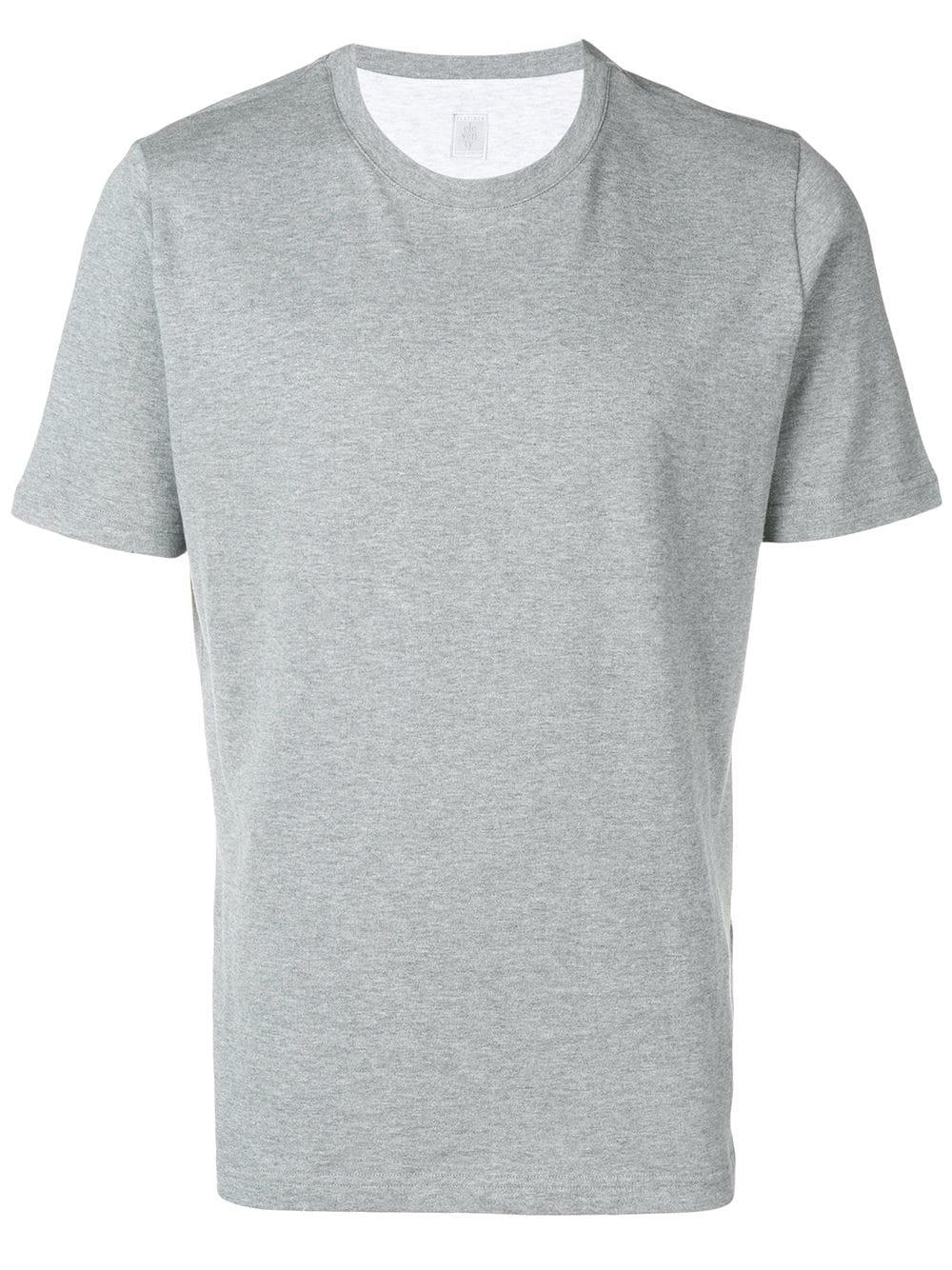 bf00733949f64c Eleventy T-Shirt Mit Rundem Ausschnitt - Grau In Grey