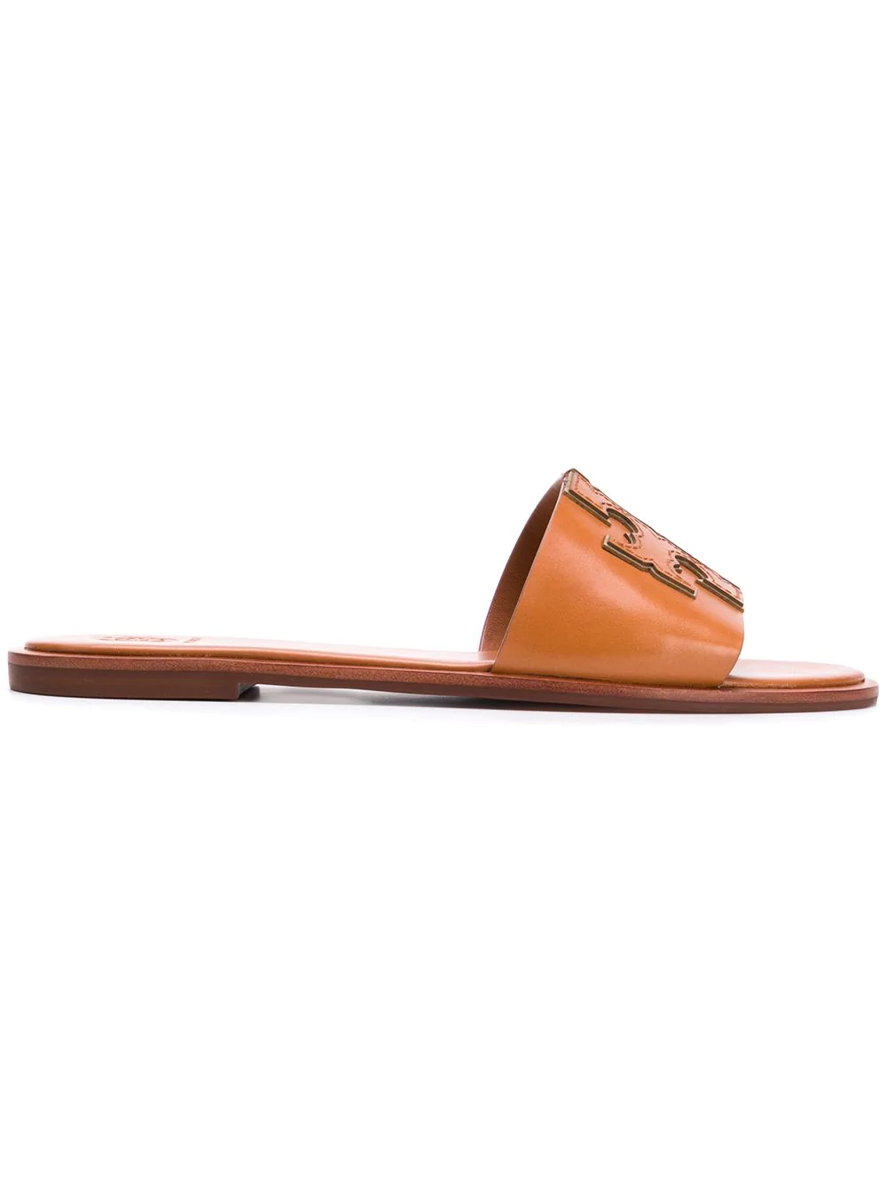 24e035f63 Tory Burch Ines Leather Sandals In Leather Color In Cuoio (Camel ...