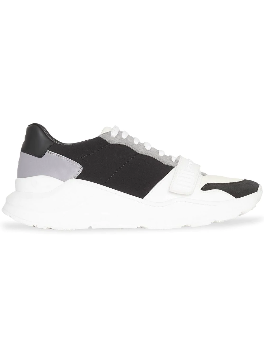 49b1e0898b4c Burberry Men s Regis Neoprene   Leather Low-Top Sneakers In White ...