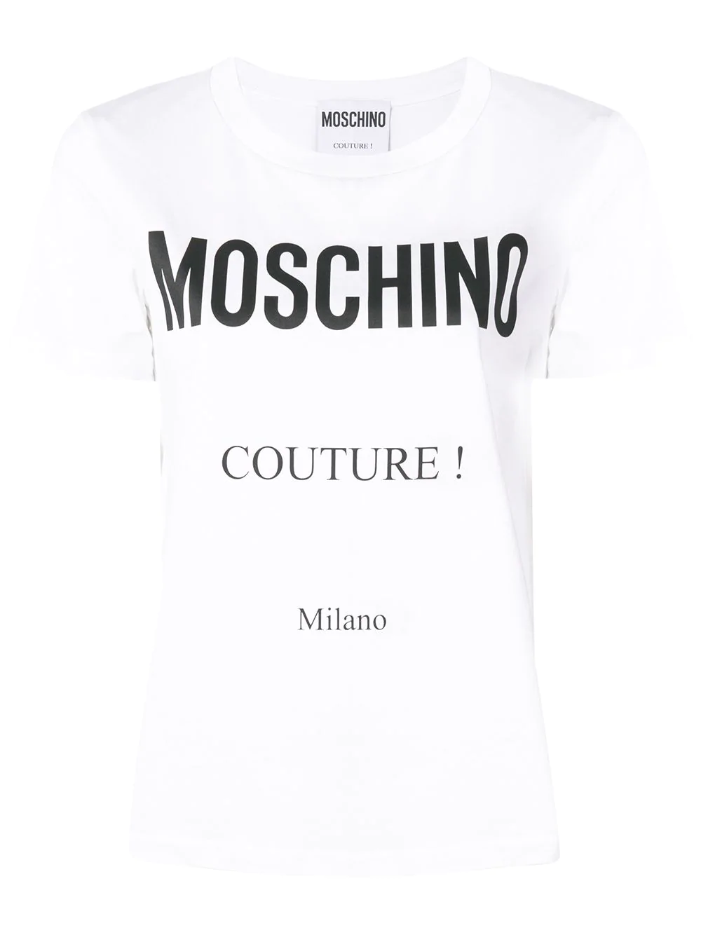 0fa05b8fe2887 Moschino Logo Print T-Shirt In White | ModeSens