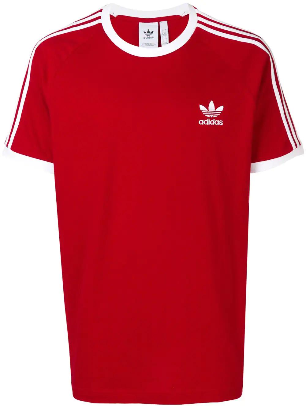 e4182de10 Adidas Originals Adidas 3-Stripes T-Shirt - Red | ModeSens