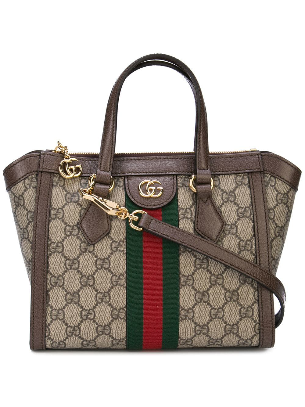 b0c5d43e93c8 Gucci Ophidia Small Gg Supreme Canvas Tote Bag In Brown | ModeSens