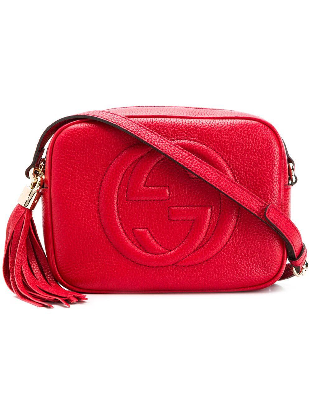 07773b234 Gucci Soho Shoulder Bag - Red   ModeSens