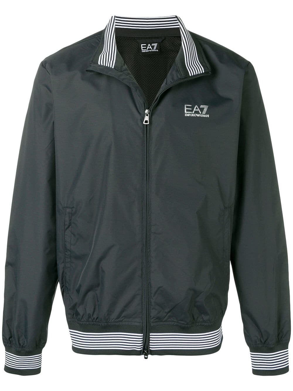 8e93b40a8d2eb Ea7 Emporio Armani Striped Trim Track Jacket - Blue | ModeSens