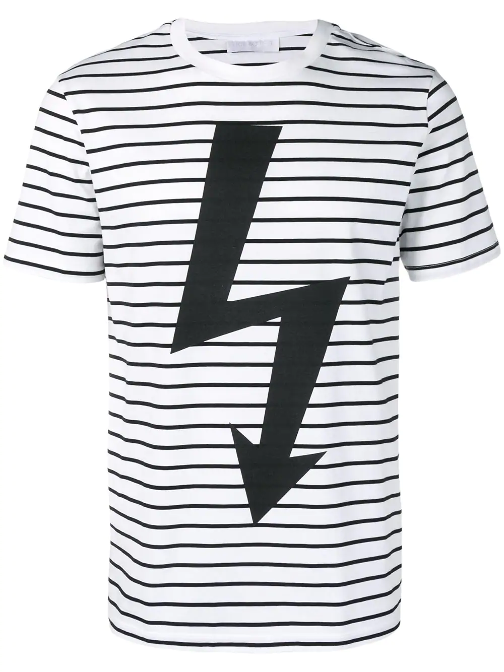 2d0de7b3 Neil Barrett Striped Lightning Bolt T-Shirt - White | ModeSens