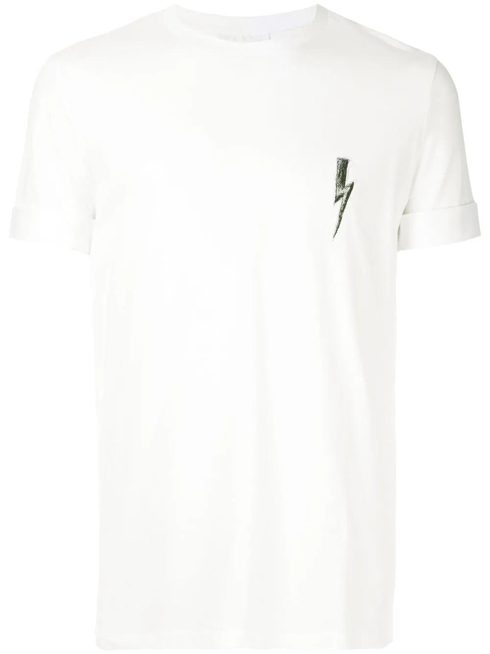 1d255913 Neil Barrett Lightning Bolt T-Shirt - White | ModeSens