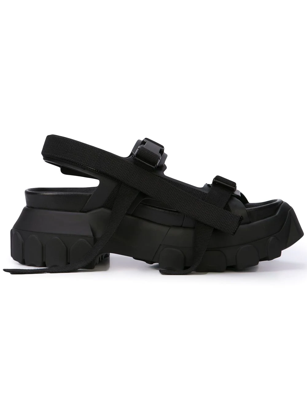 48a379595455 Rick Owens Sisyphus Hiking Sandals In Black In Nero
