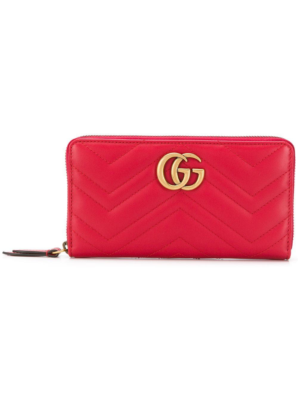 7ba4dfb432b Gucci Gg Marmont Wallet - Red