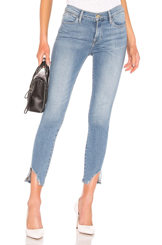 ddc148f88da Frame Le High Skinny Side Frayed-Hem Jeans In Prizzi | ModeSens