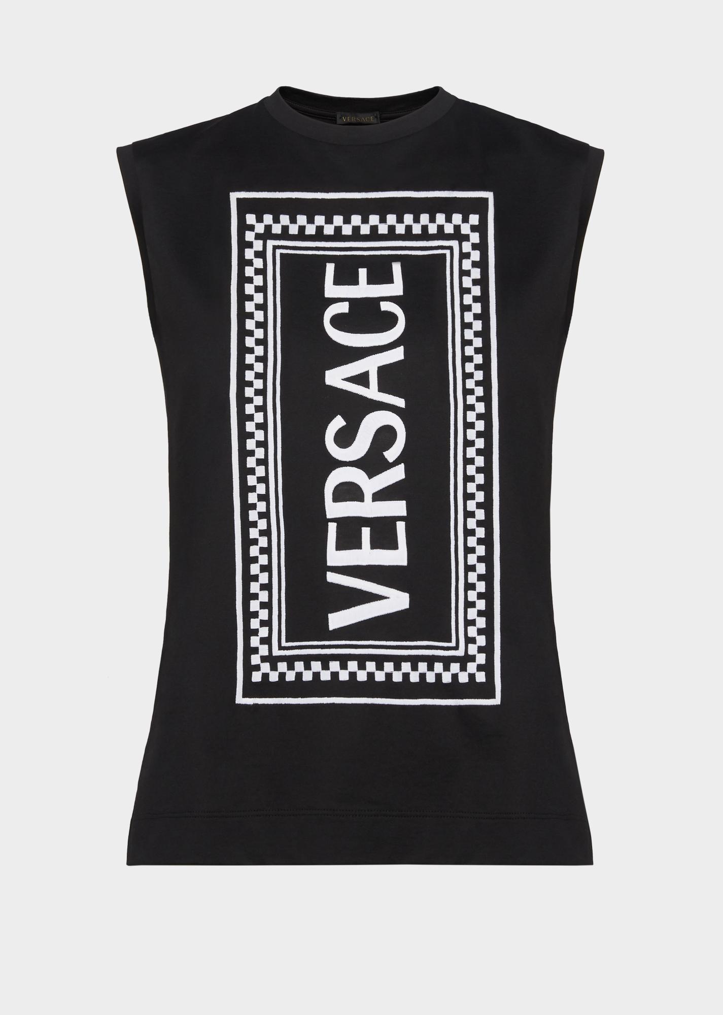 d137a9e4 Versace Vertical 90S Vintage Logo T-Shirt In Black   ModeSens
