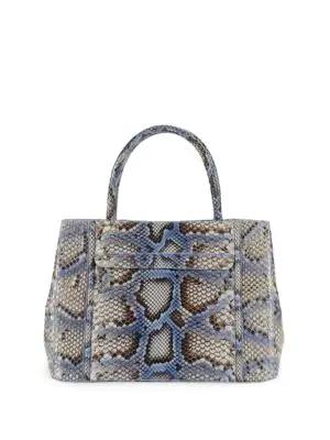 Nancy Gonzalez Python Satchel In Blue