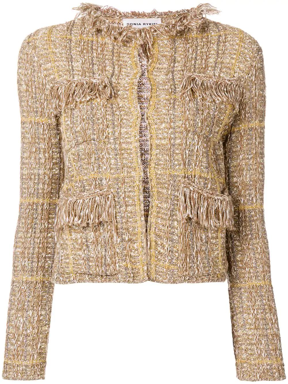 66ed55ad595 Sonia Rykiel Tweed Jacket - Neutrals | ModeSens