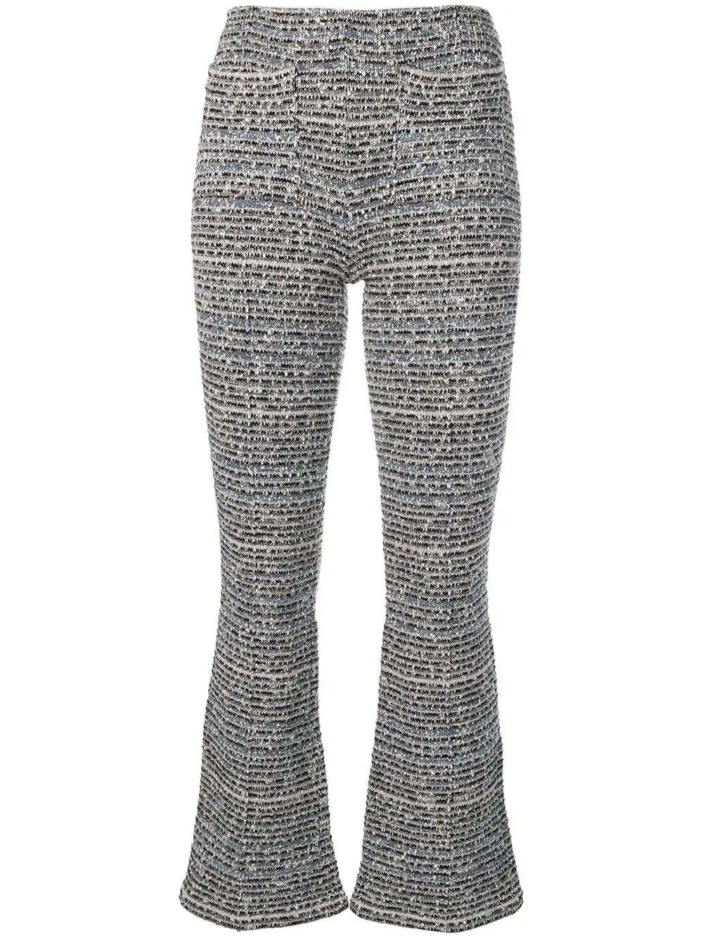 4ae0ce7e750 Sonia Rykiel Bouclé Kick Flare Trousers - Neutrals | ModeSens