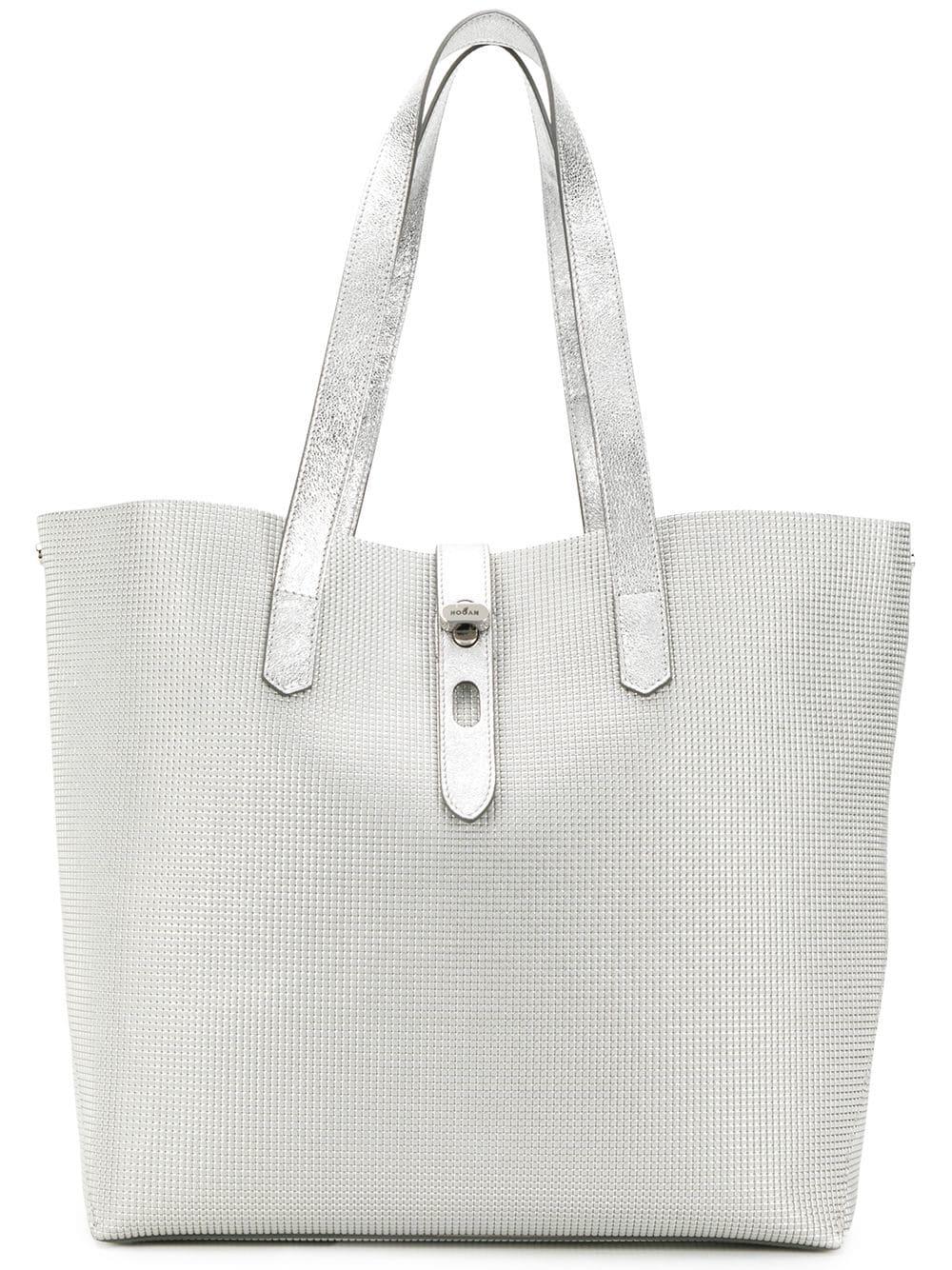27d27a9d813 Hogan Tote Bag - Silver   ModeSens