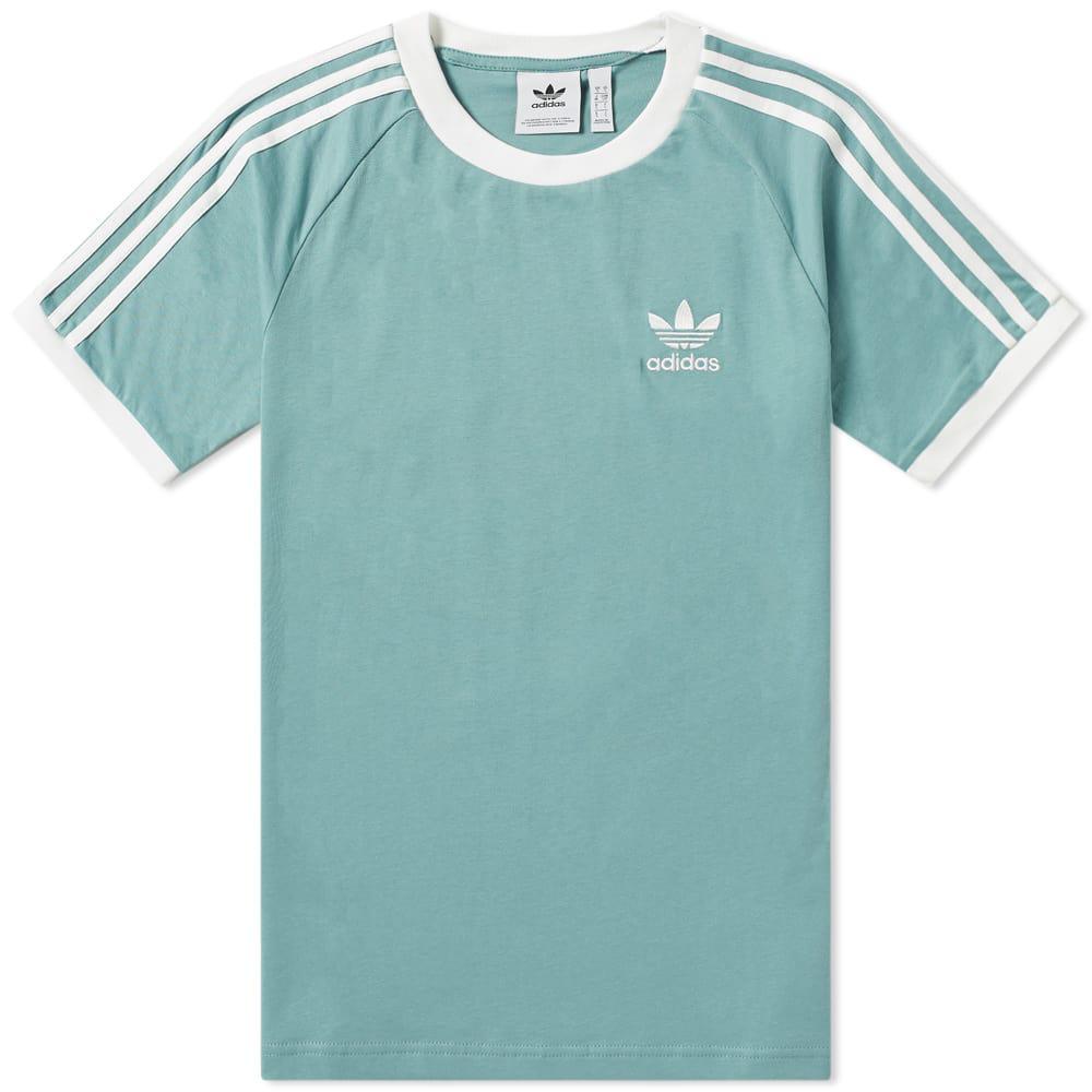 Adidas Originals Adidas 3 Stripe Tee In Green   ModeSens