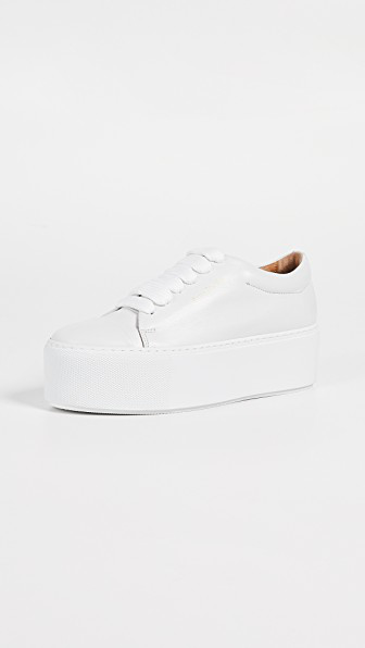 5c1a29b247 Acne Studios Drihanna Logo-Printed Leather Sneakers In White | ModeSens