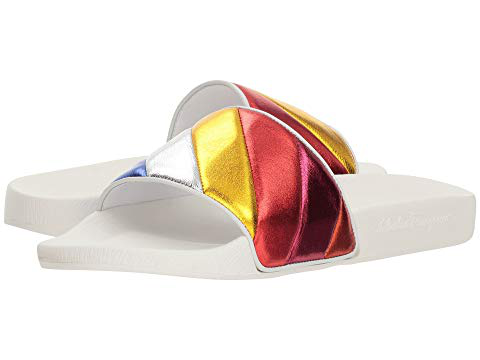 0a1bd4dda90 Salvatore Ferragamo Women. SALVATORE FERRAGAMO. Women s Groove Multicolor  Pool Slide Sandals ...