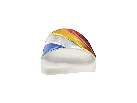 613151022c0d Salvatore Ferragamo Women s Groove Multicolor Pool Slide Sandals In Rainbow
