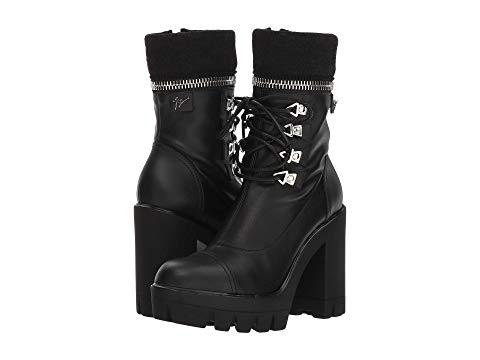 2939d63c6a7d5 Giuseppe Zanotti Women's Gintonic Leather Zip Top Block-Heel Platform Combat  Boots In Birel Nero