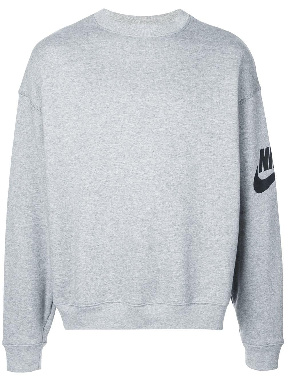 aed59ff18 Nike Crewneck Logo Sweatshirt - Grey | ModeSens