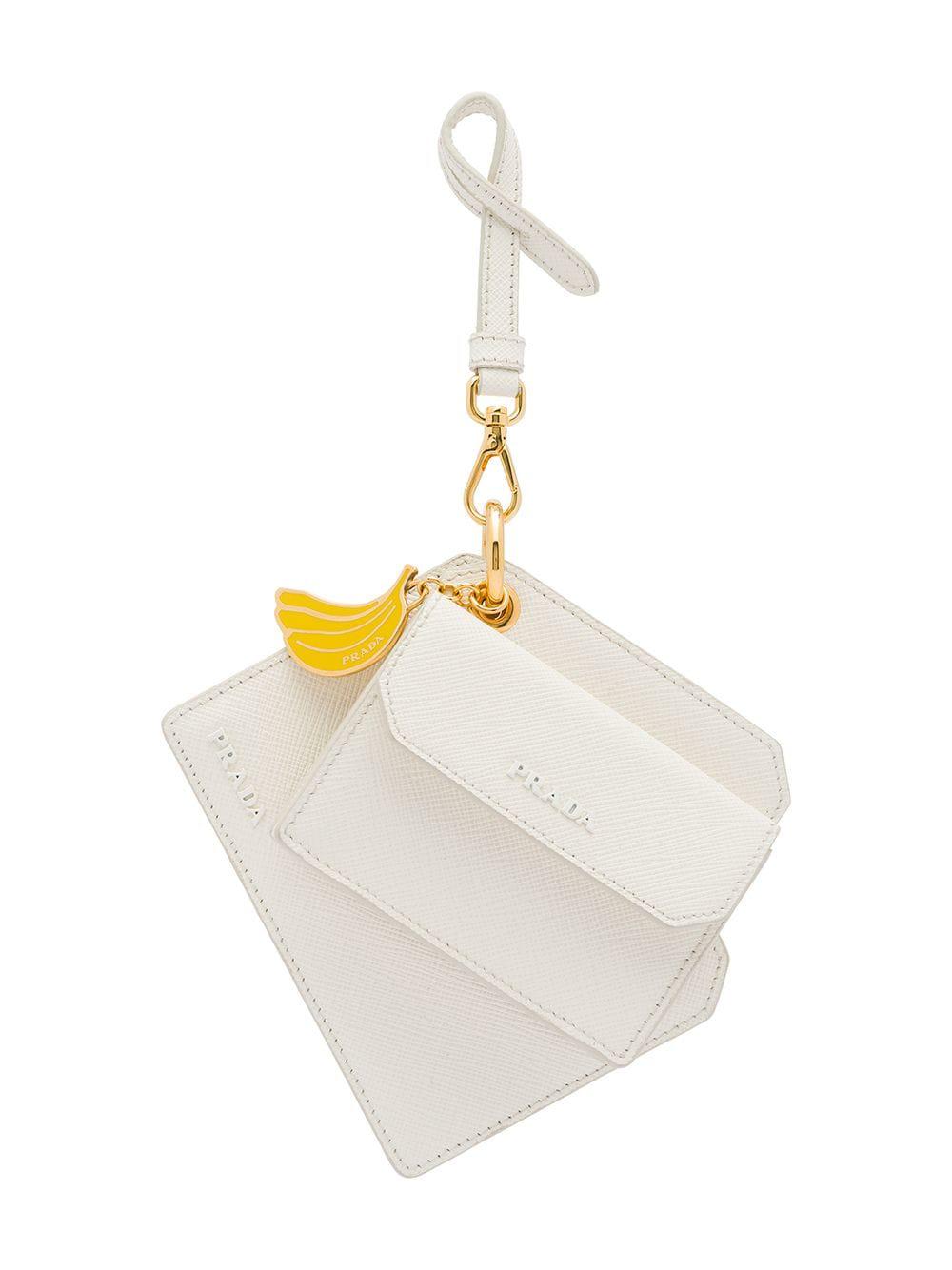 4e1da4357fae Prada Banana Charm Keychain - White | ModeSens
