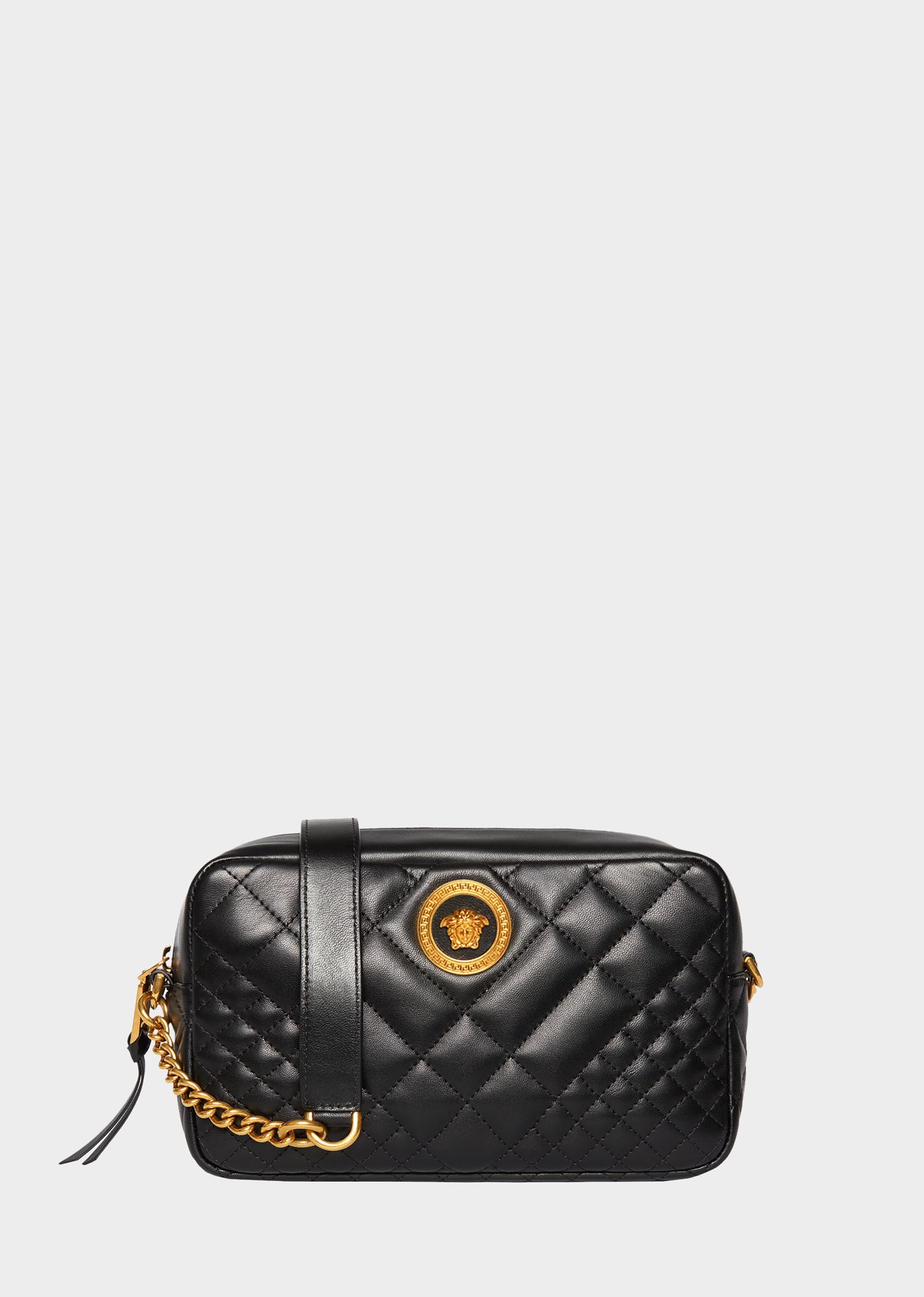 7f3561ed74 Versace Quilted Shoulder Bag