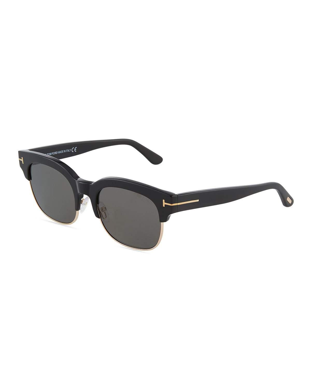 6841726e503 Tom Ford Harry 53Mm Half-Rim Sunglasses In Black Gray