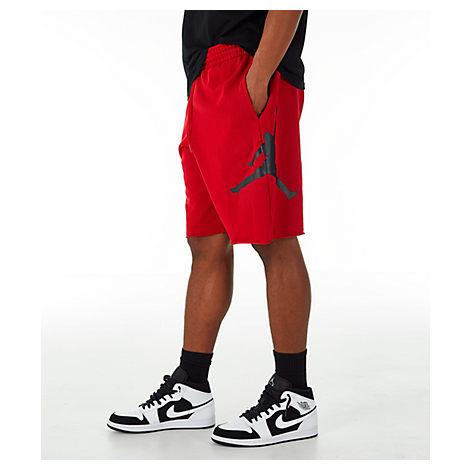 dc59f27562a Nike Men's Jordan Sportswear Air Jumpman Fleece Shorts, Red | ModeSens