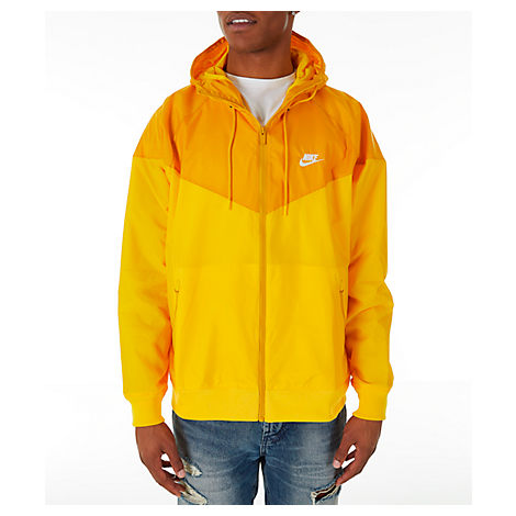 255b8a4f26384 Nike Men's Sportswear Colorblock Windrunner Hooded Jacket, Yellow ...