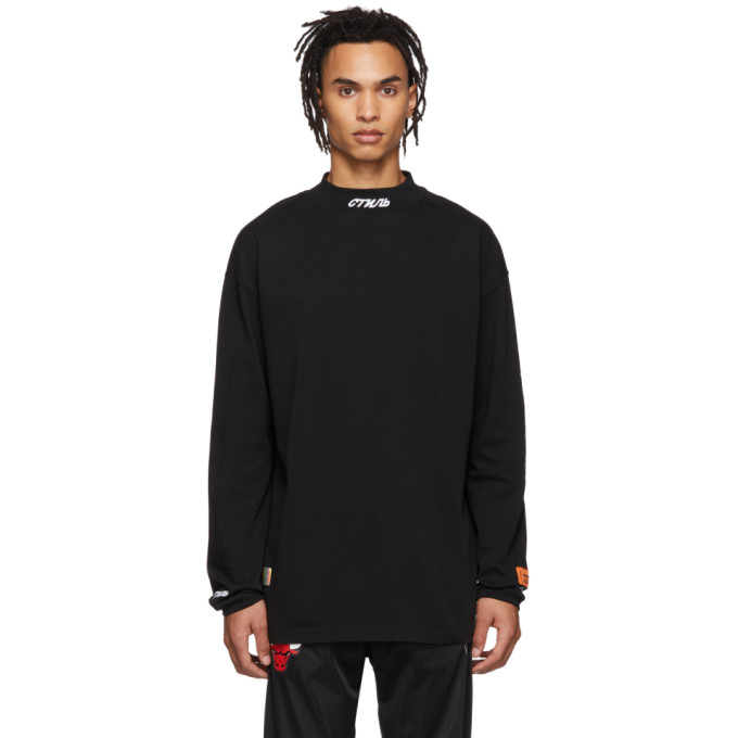 ab3ab922297d Heron Preston Black Style Mock Neck T-Shirt In 1001 Blackw | ModeSens