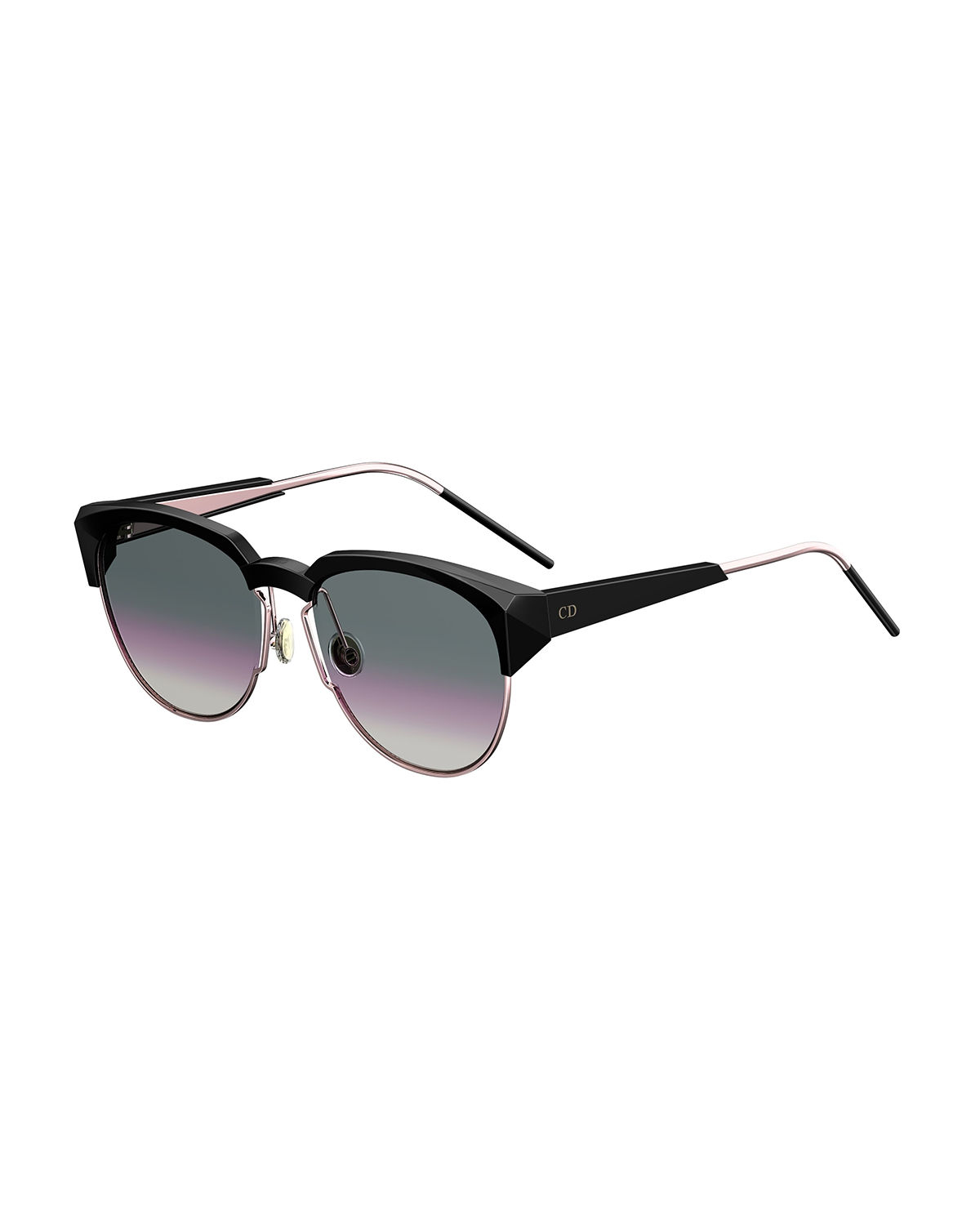 d12200a7a67 Dior Spectral 8 Semi-Rimless Sunglasses In Black   Purple Gradient ...