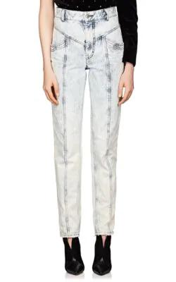 470b4a8a97 Isabel Marant Lorricka Acid-Washed High-Waist Skinny Jeans In Blue ...
