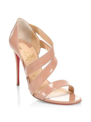 47ebe6ffef6b Christian Louboutin World Copine 100 Patent Leather Pumps In Nude ...
