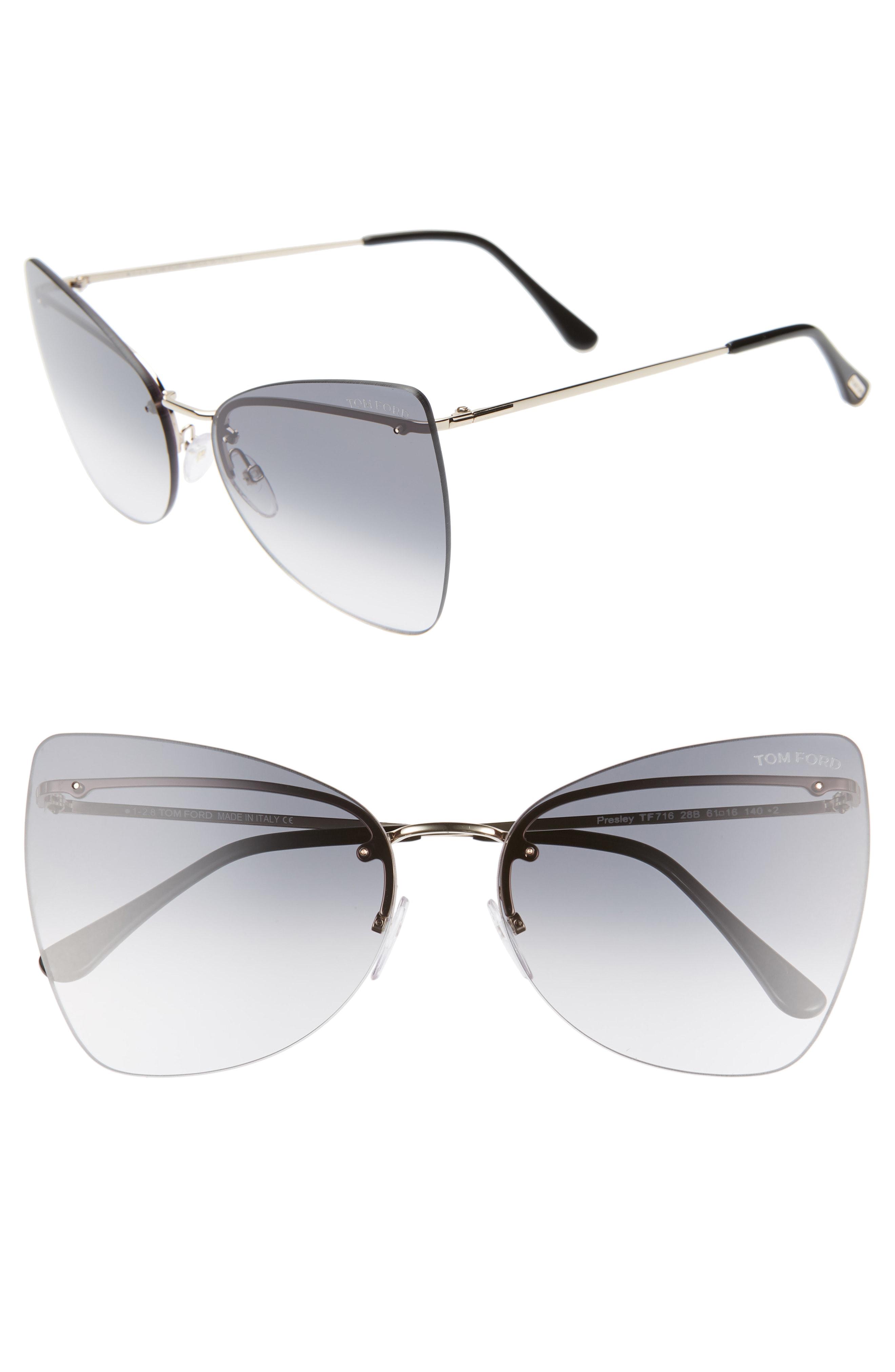 039f050ba6f8 Tom Ford Presley 61Mm Butterfly Sunglasses - Rose Gold  Black  Smoke ...