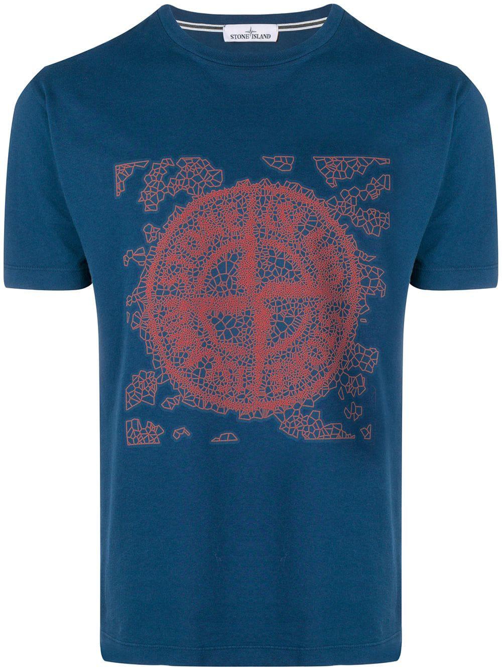 653e1e18da5 Stone Island T-Shirt Mit Logo-Print - Blau In Blue